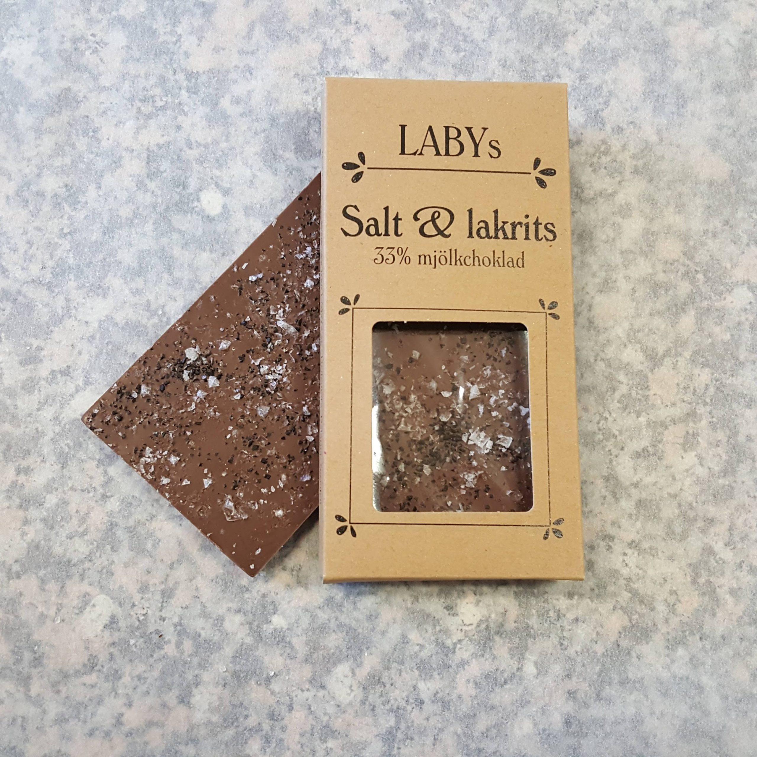 Salt & lakrits, Mjölkchokladkaka