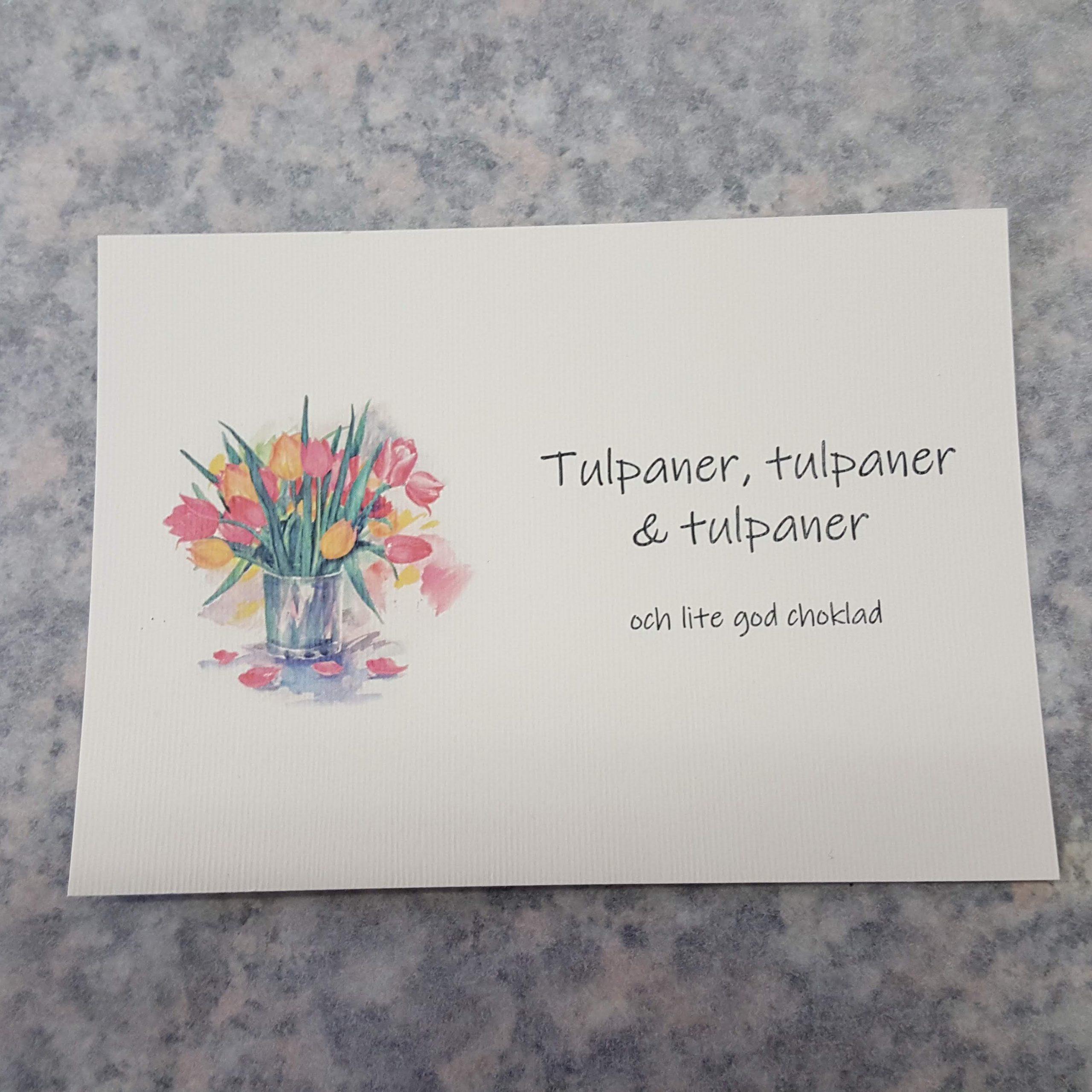 Gratulationskort: Tulpaner